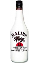 Malibu (Малибу). Caribbean White Rum with Coconut