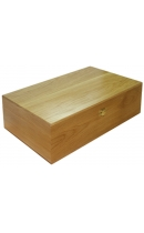 Wooden box (oak) for 2 bottles
